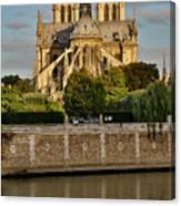 Morning Light On Cathedral Notre Dame Canvas Print