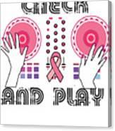Naughty Breast Cancer Awareness Art For Women Light Canvas Print