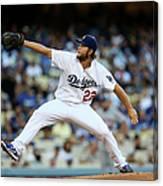 New York Mets V Los Angeles Dodgers 4 Canvas Print