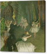 The Rehearsal Of The Ballet Onstage  Canvas Print