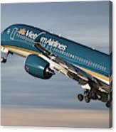 Vietnam Airlines Airbus A350 Canvas Print