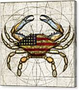 4th Of July Crab Canvas Print