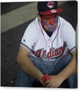 Cleveland Indians Fans Gather To The Canvas Print