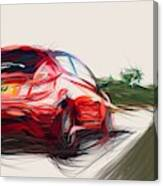 Ford Fiesta St Draw By Carstoon Concept