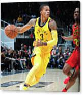 Indiana Pacers V Atlanta Hawks Canvas Print