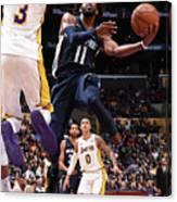 Memphis Grizzlies V Los Angeles Lakers Canvas Print