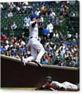 Miami Marlins V Chicago Cubs Canvas Print
