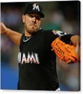 Miami Marlins V New York Mets Canvas Print
