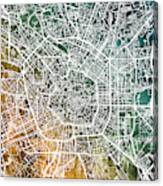 Milan Italy City Map Canvas Print