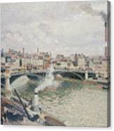 Morning  An Overcast Day  Rouen  Canvas Print