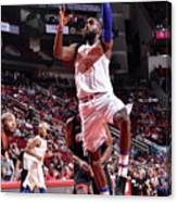 New York Knicks V Houston Rockets Canvas Print
