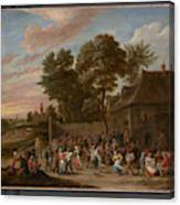 Peasants Dancing And Feasting  Canvas Print