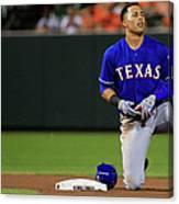 Texas Rangers V Baltimore Orioles Canvas Print