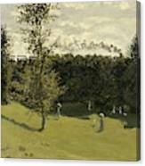 Train In The Countryside  Canvas Print