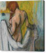 Woman With A Towel  Canvas Print