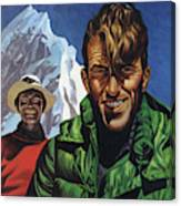Hillary And Tensing In Front Of Mount Everest Canvas Print
