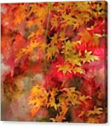 Digital Watercolor Painting Of Beautiful Colorful Vibrant Red An Canvas Print