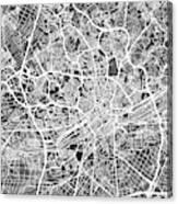 Frankfurt Germany City Map Canvas Print