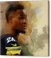 Le'veon Bell.pittsburgh Steelers. Canvas Print