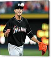 Miami Marlins V Atlanta Braves Canvas Print