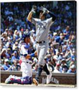Milwaukee Brewers V Chicago Cubs 6 Canvas Print