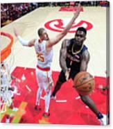 New Orleans Pelicans V Atlanta Hawks Canvas Print