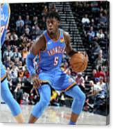 Oklahoma City Thunder V Utah Jazz Canvas Print