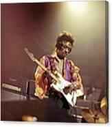 Photo Of Jimi Hendrix Canvas Print