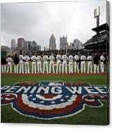 Atlanta Braves V Pittsburgh Pirates Canvas Print