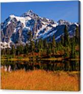 Autumn Colors With Mount Shuksan Canvas Print