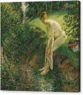 Bather In The Woods  Canvas Print