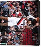 Charlotte Hornets V Portland Trail Canvas Print