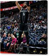 Detroit Pistons V Utah Jazz Canvas Print