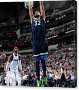 Minnesota Timberwolves V Dallas Canvas Print