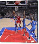Oklahoma City Thunder V Sacramento Kings Canvas Print