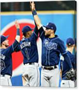 Tampa Bay Rays V Cleveland Indians Canvas Print