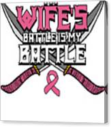 Breast Cancer Awareness Art For Warrior Women Light Dark Canvas Print