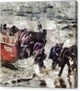D Day Landings, Wwii Canvas Print