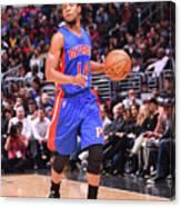Detroit Pistons V La Clippers Canvas Print