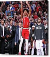 Philadelphia 76ers V Portland Trail Canvas Print