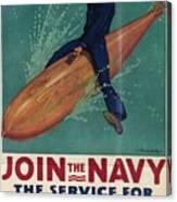Wartime Propaganda Poster Canvas Print
