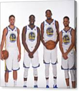 2017-18 Golden State Warriors Media Day Canvas Print