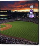 Atlanta Braves V Colorado Rockies Canvas Print