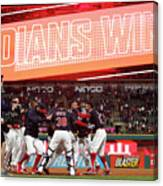 Boston Red Sox V Cleveland Indians 9 Canvas Print