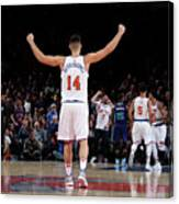 Charlotte Hornets V New York Knicks Canvas Print