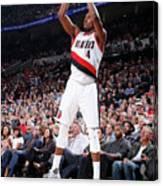 La Clippers V Portland Trail Blazers Canvas Print