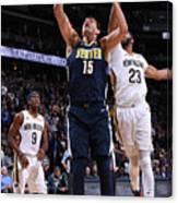 New Orleans Pelicans V Denver Nuggets Canvas Print