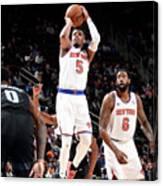 New York Knicks V Detroit Pistons Canvas Print