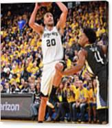 San Antonio Spurs V Golden State Canvas Print