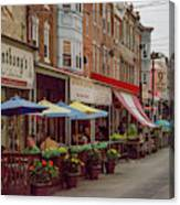 9th Street Italian Maket In South Philadelphia Canvas Print